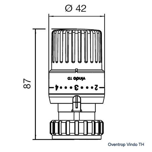 Термостат Oventrop Vindo TH - 1